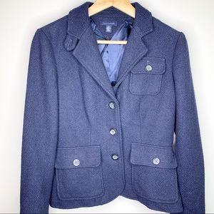 TOMMY HILFIGER 3 Button Navy Wool Blazer S